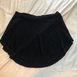 Black Bullet Pointe Skirt